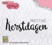 Stempel Nederlandse Tekst - Prettige Kerstdagen