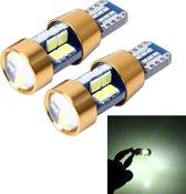 2 STKS T10 3W Foutvrij licht voor auto-inklaring met 19 SMD-3030 LED-lamp, DC 12V (wit licht)