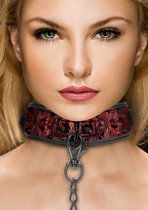 Luxury Collar with Leash - Burgundy