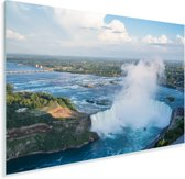 Luchtfoto van de Niagarawatervallen Plexiglas 90x60 cm - Foto print op Glas (Plexiglas wanddecoratie)