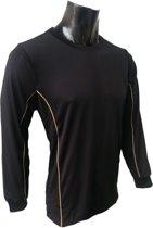KWD Shirt Diablo lange mouw - Zwart - Maat XL