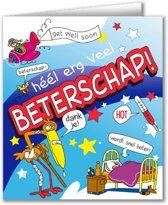 Paperdreams - Wenskaart - Cartoon - Beterschap