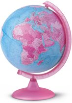globe Pink 25cm nederlandstalig kunststof voet met          verlichting