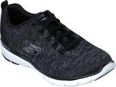 Skechers Flex Appeal 3.0 Dames Sneakers - Zwart - Maat 38