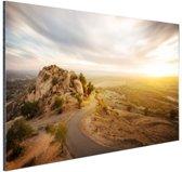 Woestijnslandschap Aluminium 30x20 cm - Foto print op Aluminium (metaal wanddecoratie)