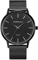 CRRJU Unisex Horloge Kast: Zwart Band: Messing 40mm (productvideo)