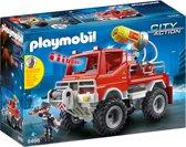 PLAYMOBIL Brandweer terreinwagen met waterkanon - 9466