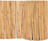Hek 500x30 cm bamboe (incl. Werkhandschoenen)
