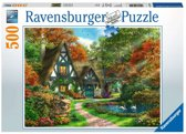 Ravensburger puzzel Cottage in de herfst - legpuzzel - 500 stukjes
