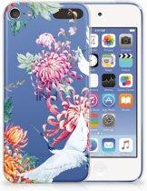 Apple iPod Touch 5 | 6 Uniek TPU Hoesje Bird Flowers