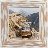 Henzo India Fotolijst - Fotomaat 30x30 cm - Wit