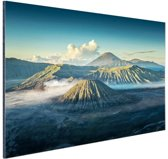 Zonsopkomst Bromo vulkaan Aluminium 90x60 cm - Foto print op Aluminium (metaal wanddecoratie)