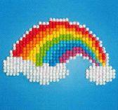 Diamond Dotz ® painting Rainbow ( 10,2 x 10,2 cm)