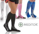 MeditorPlus Sport Compressiesokken - Zwart - L/XL - 2 paar