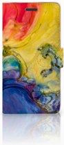 Samsung Galaxy Note 5 Flipcase Watercolor Dark