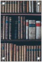 Tuinposter –Ouderwetse Boeken– 100x150cm Foto op Tuinposter (wanddecoratie voor buiten en binnen)