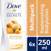 Dove Replenishing Bodylotion - 6 x 250 ml - Voordeelverpakking