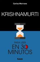 Krishnamurti para leer en 30 minutos