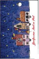 Cadeaukaartje sinterklaas - sint - 5 december - 8 minikaartjes huisjes