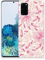 Samsung Galaxy S20 Plus TPU Case Pink Flowers
