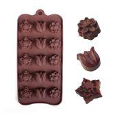 Kitchen Princess - Siliconen Chocoladevorm Bloemen - Fondant Bonbonvorm