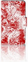 Samsung Galaxy Trend 2 Boekhoesje Design Angel Skull Red