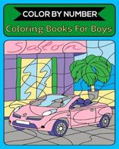 Color By Number Coloring Books For Boys: 50 Unique Color By Number Design for drawing and coloring Stress Relieving Designs for Adults Relaxation Crea