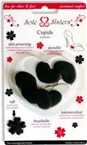 Cupids van Sole Sisters - Beschermende kussentjes tegen blaren - zwart