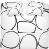 Damai Big Circle - Dekbedovertrek - 140 x 200/220 - Eenpersoons - White