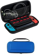 Bescherm Case Hard Cover Hoesje Geschikt voor Nintendo Switch - Blauw