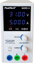 Peaktech 6225A: Schakelmodus laboratorium Voeding DC 0 - 30 V / 0 - 5 A