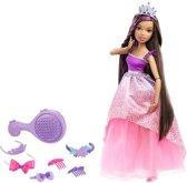 Barbie Dreamtopia Prinses Bijzonder Lang Haar Brunette - Barbiepop