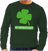 St. Patricksday klavertje sweater groen heren S