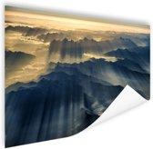 Himalaya zonsopkomst Poster 180x120 cm - Foto print op Poster (wanddecoratie woonkamer / slaapkamer) / Natuur Poster XXL / Groot formaat!