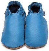 Inch Blue babyslofjes plain blue maat 2XL (16 cm)