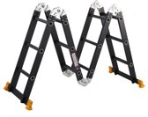 AL Ladder Multifunctioneel ladder 4 x 3  368cm inlc.platform, Zwart