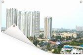 Panorama van Chennai Tuinposter 180x120 cm - Tuindoek / Buitencanvas / Schilderijen voor buiten (tuin decoratie) XXL / Groot formaat!
