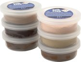 Silk Clay - Klei - Set met 6 Bruintinten