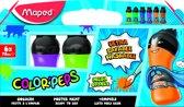 COLOR'PEPS plakkaatverf ultra uitwasbaar - secundaire kleuren - flacons à 75 ml - in kartonnen doos x 6