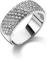 Twice As Nice ring in zilver, 5 rijen zirkonia Wit 54