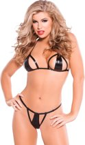 Wetlook Bra & G-String Set