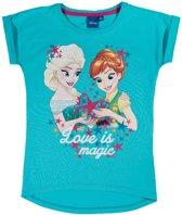 Disney-Frozen-T-shirt-met-korte-mouw-turquoise-maat-104