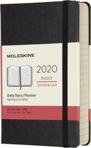 Moleskine Agenda - 12 Maanden - Dagelijks - Pocket (9x14cm) - Zwart - Harde Kaft