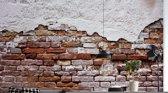 Fotobehang Grunge Brick Wall   VEXXXL - 416cm x 254cm   130gr/m2 Vlies