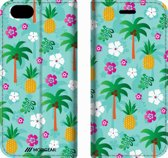 Mobigear Design Mobigear Tropical Design Wallet Bookcase Hoesje 4 iPhone 6 / 6s