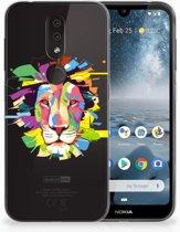 Nokia 4.2 Uniek TPU Hoesje Lion Color
