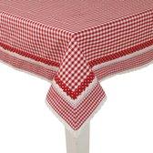 Clayre & Eef 100x100 Tafelkleed rood