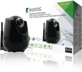 Pan-Tilt IP Camera Indoor VGA Black