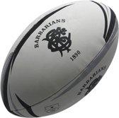 Gilbert rugbybal Barbarians mini (15 cm) Zwart Mini