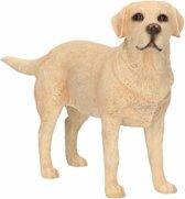 Beeldje Labrador blond 15 cm